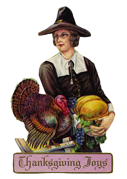 Pilgrim lady ready for Thankgiving