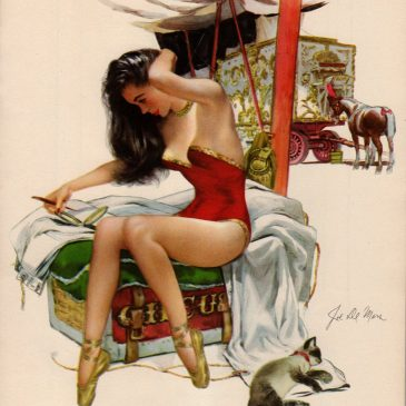 Vintage Circus Pin Up Girl
