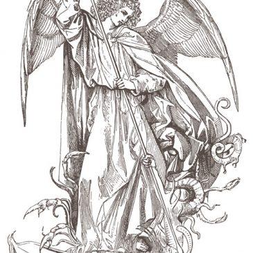 Angel Saint Michael Dragon Slayer