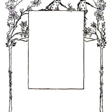 Alice in Wonderland Vintage Frame