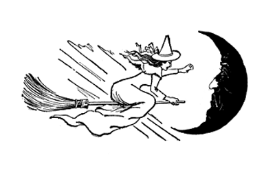 Witch, Mouse and Pumpkin Graphic