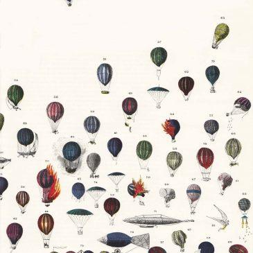 Vintage Hot Air Balloons Wallpaper