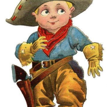 Cute Cowboy Vintage Graphic