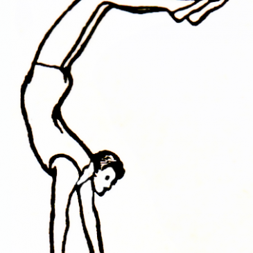 Handstand Man Vintage Graphic
