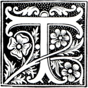 Antique Classic Initial T Typography