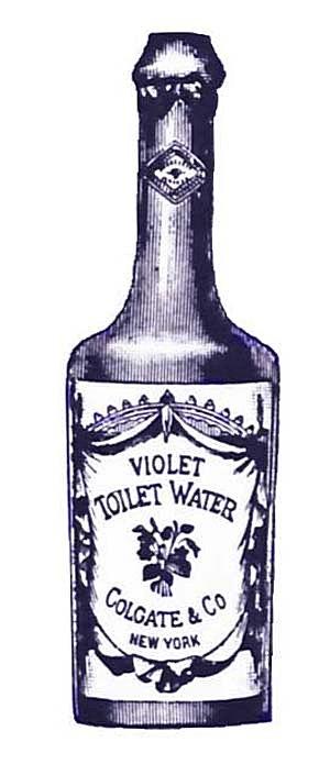 Violet Toilet Water Bottle Ephemera