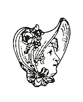 Woman Wearing a Bonnet Graphic