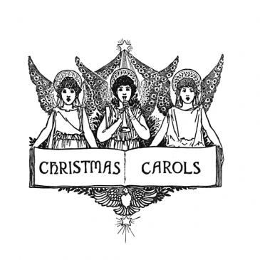 Christmas Carols Angels Banner